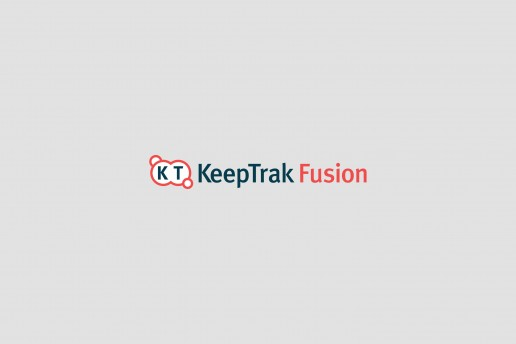 KeepTrak Fusion Logo Design on light background