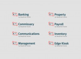 KeepTrak logo design divisions on light background