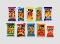 Cactus Annie's variety of snacks packaging design