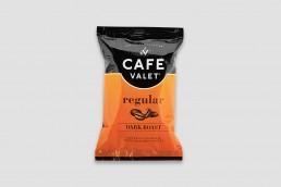 Cafe Valet regular coffee package design