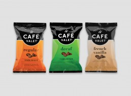 Cafe Valet complete line of coffee package design